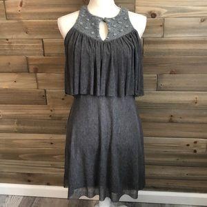 NWT Amani Grey Sleeveless Dress Size S